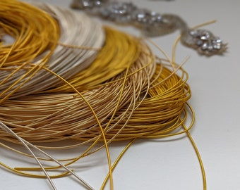 Shades of Gold Purl Pearl French Bullion Wire for Goldwork Embroidery, Jaceron, Goldwork supplies