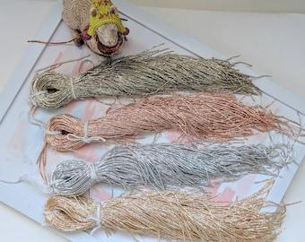 Bright Check Purl in Gold Silver Rosegold Colors for Tambour Embroidery/Wire Check Purl/Frieze Check Purl