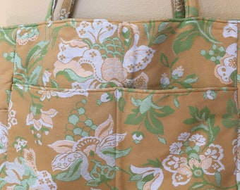 Charlotte#1800, Large Upholstery Fabric Tote, Upholstery Fabric Bag, Large Project Tote, Weekend Bag, Overnight Bag, Knitting Bag, Large Bag