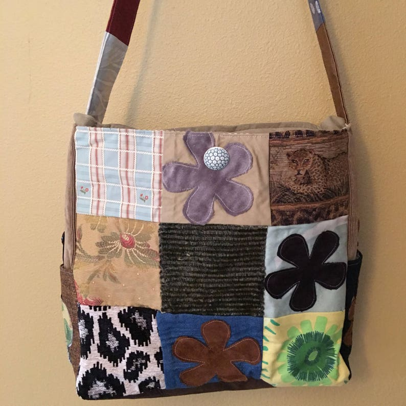 Knitting Tote Patchwork Extra Large Tote Large Knitting Project Bag Needle Point Bag Amber#1810 Bags Loom Bag Quilting Project Tote