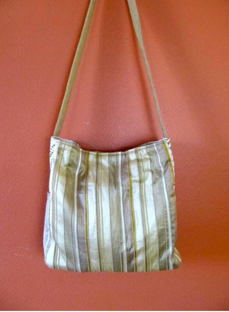Sam #50  Designer Fabric Tote Knit and Crochet Lap Top Bag,Knitting Bag Travel Bag Knitting Project Bag Shoulder Bag Up Cycled Bag