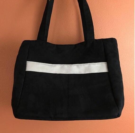 51e142b855bcc Beth 58 czarna torba czarna torba do dziania torebka | Etsy