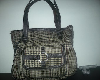 vintage ladies 1990s plaid purse