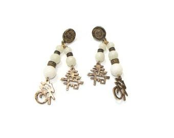 Vintage Asian Dangle Earrings