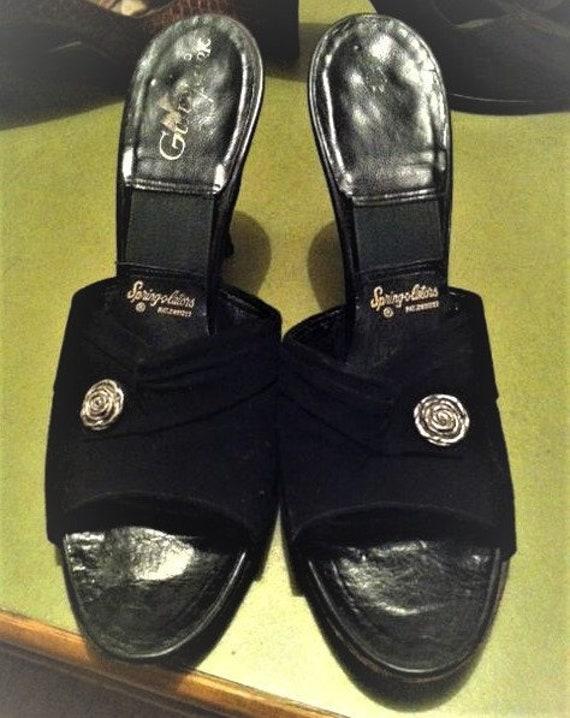 Original  Black 50's Springolators Pin Up Shoes