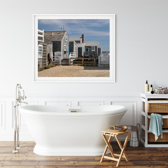 Home Decor Photography Prints Nautical Photo Print in Boston Harbour Travel Photography Cottage Decor
