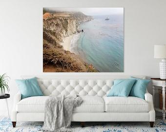 Coastal Wall Art, California Big Sur, Ocean Blue, Highway 1, Wall Art, Beach House Prints, Master Bedroom Wall Art, Ocean Beaches, Landscape