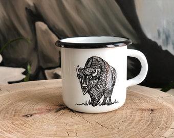 Enamel Mug - Bison