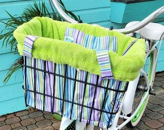 Bicycle Basket Liner Tote Bag - Ships Free!