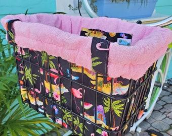 Handmade Bike Basket Liner Tote Bag - Ships Free!