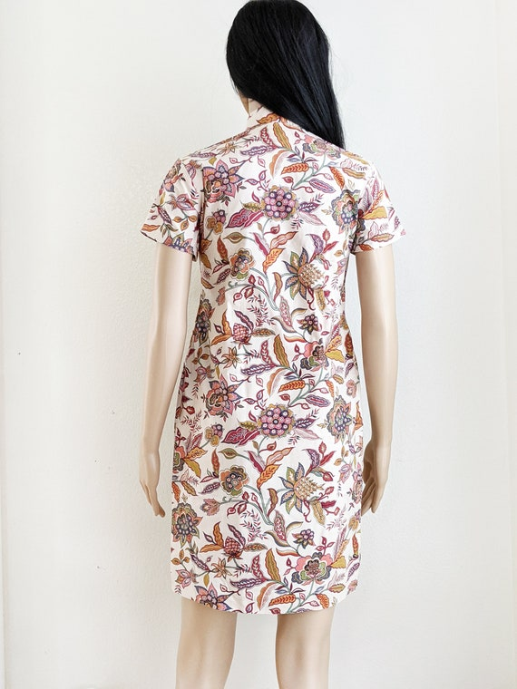 Vintage floral qipao dress, retro floral cheongsa… - image 5