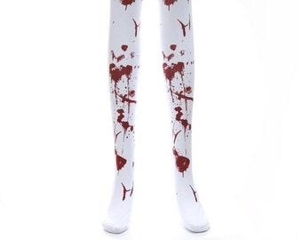 Girls Socks Over Knee Purple Damask Winter Customized For Halloween