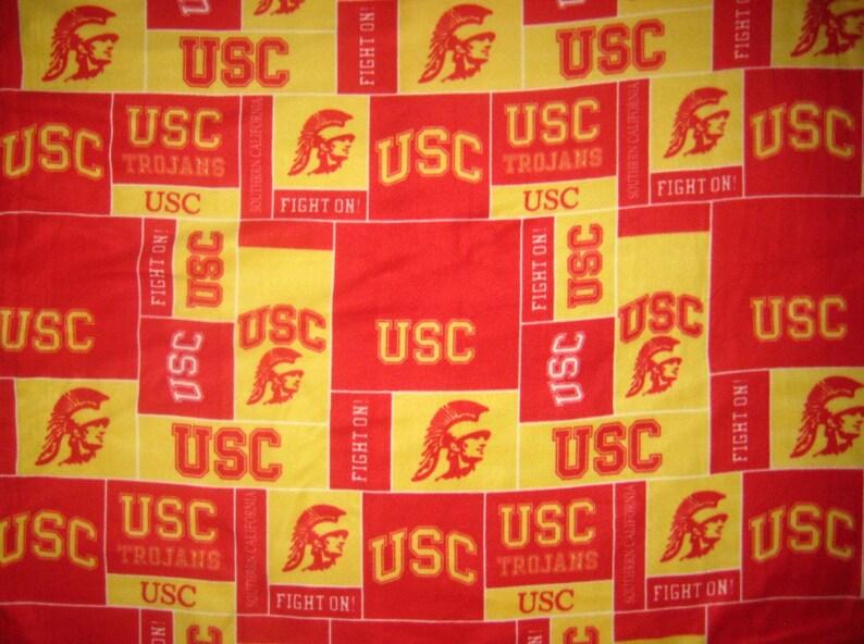 USC Trojans University of Southern California Fleece Throw image 0