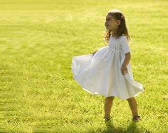 Ivory Flower Girl Dress, Twirly dress, Flower Girl Dress, Bridesmaid Dress, Bestseller