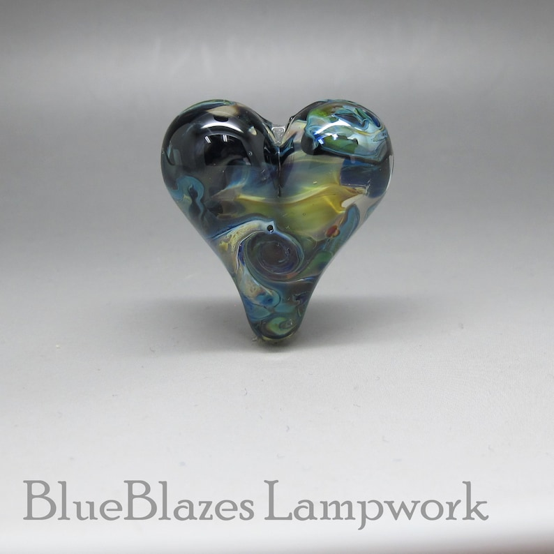 Lampwork Heart Focal Bead Hidden Heart