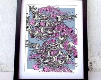 Jellyfish graphic print