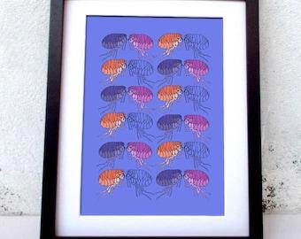 Fleas graphic print
