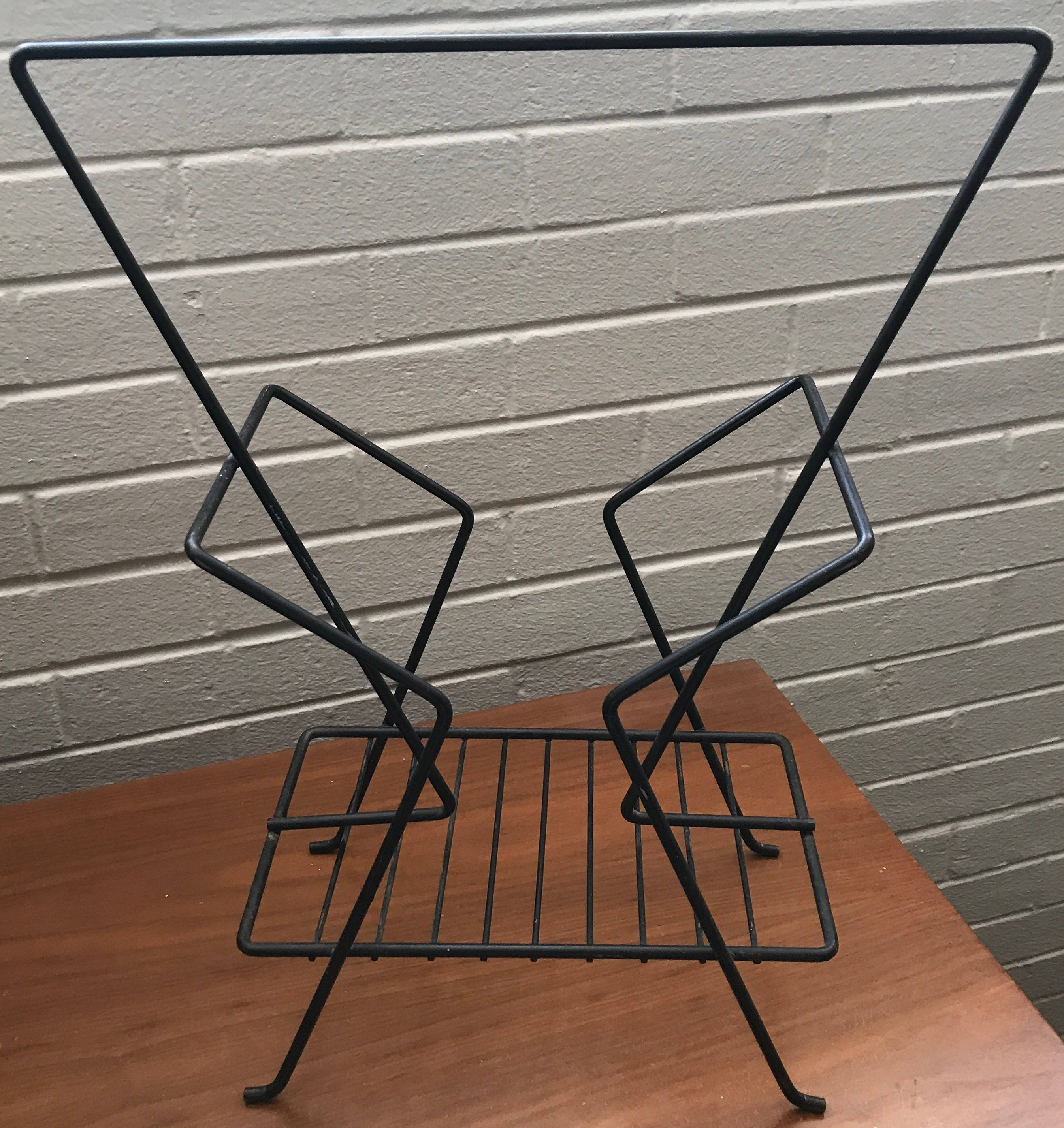Miraculous Onsale2019 Vintage 1950S 1960S Black Wire Metal Stand Evergreenethics Interior Chair Design Evergreenethicsorg