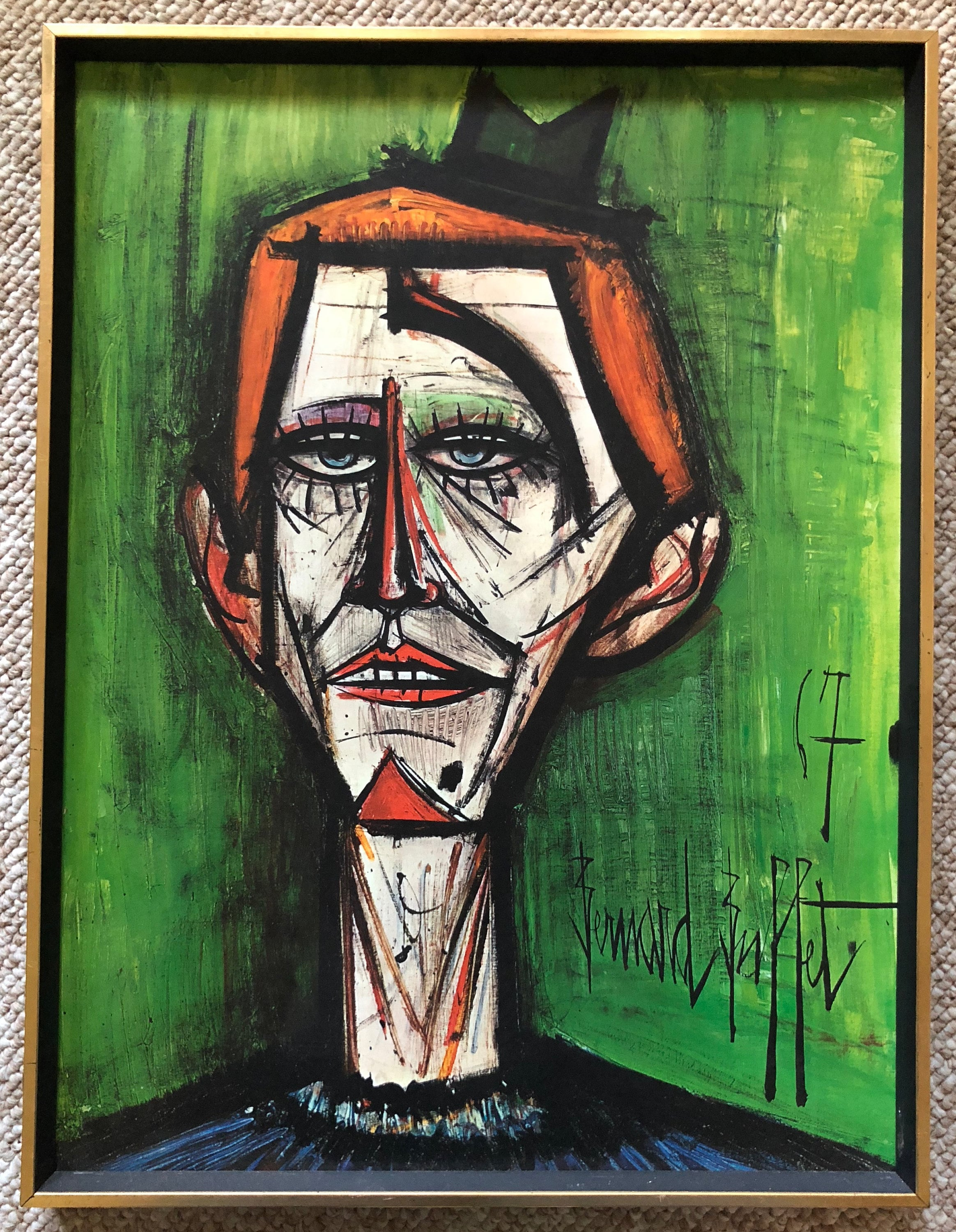 Pleasant Reserved Alma Vintage 60S Bernard Buffet Clown Best Image Libraries Ponolprimenicaraguapropertycom