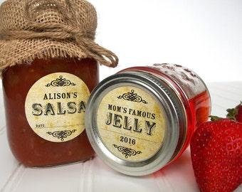 mason jar label etsy