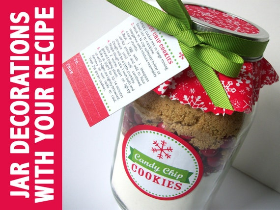 Cookie Jar Bg Delectable Custom Christmas Cookie Jar Decorations With YOUR Recipe Etsy