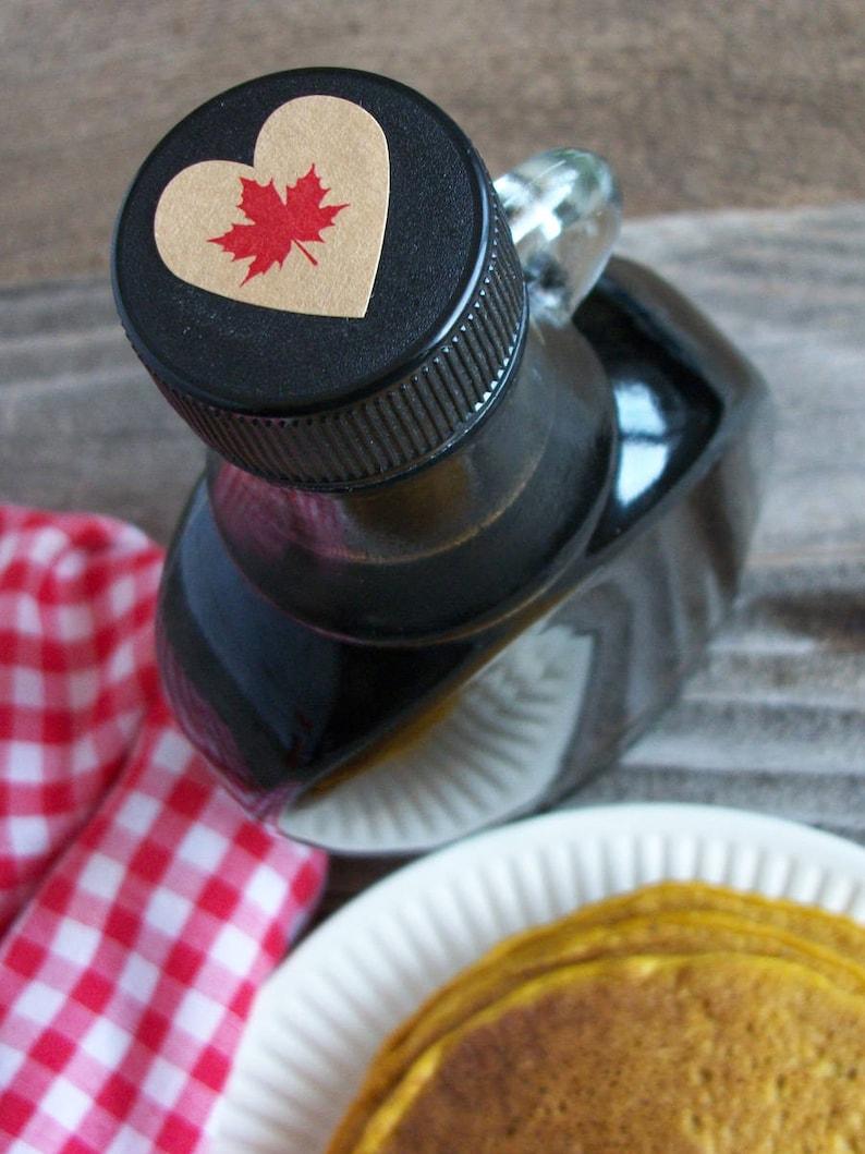 golden medium dark very dark Grade A KRAFT Maple Syrup Color Grade heart labels for bottle caps /& lids red or black maple leaf labels
