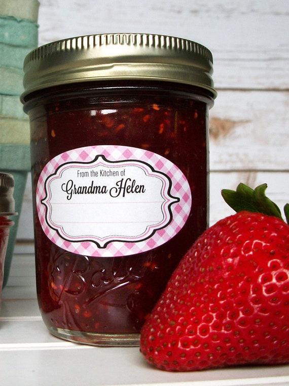 Boîte de 100 Kitchen Craft Jam Jar préserver étiquettes auto-adhésives gelées Marmelade
