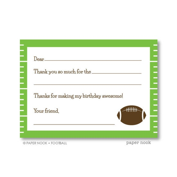 graphic about Printable Fill in referred to as Soccer PRINTABLE Fill-in just-the-Blank Thank By yourself Notice