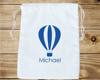 Hot Air Balloon Personalized Favor Bag