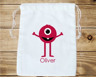 Monster Personalized Cotton Favor Bag