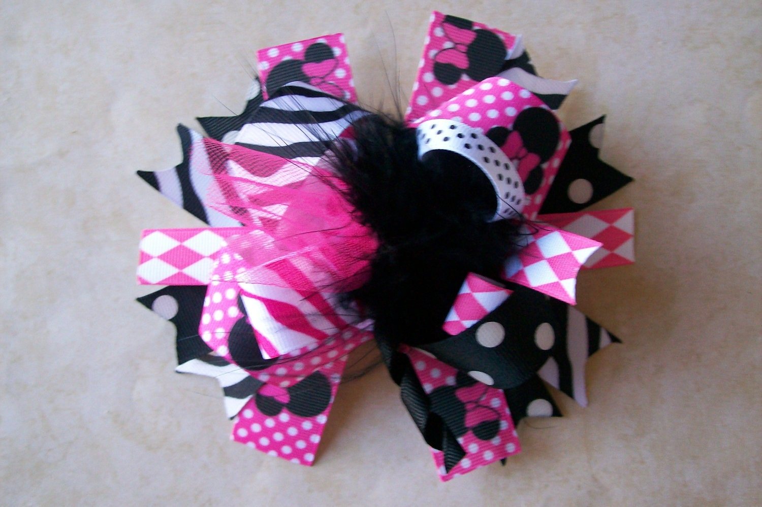 MUD PIE Party Time Tulle Ribbon Hair Bow  Barrett Birthday NEW!!