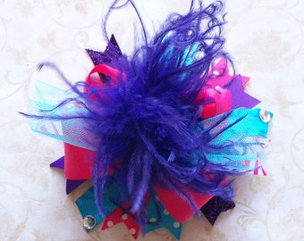Hair Bow, Colorful Hair Ribbon, Custom Baby Hairbow, Ribbon Hair Clip, Baby Hair Bow Clip, Pink, Purple, Blue Bow