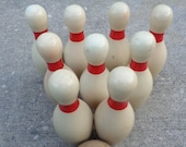 Antique Wooden Bowling Pin Vintage Bowling Pins Mantle Decor Carnival Game Miniature Bowling Salesman s Sample Sport Equipment