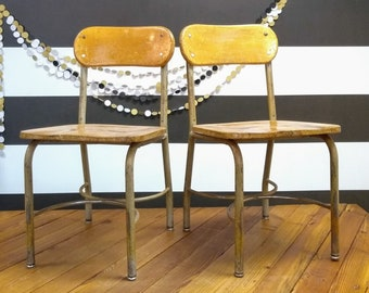Quick View. Vintage School Chairs ...