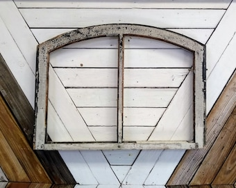 Geometric Historical Salvage Arched Framed Wavy Glass Privacy Architectural Industrial Salvage Antique Transom Windows Building Supply