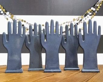 Vintage Glove Mold; Hand; Antique Black Hand Glove Molds; Hands; Rubber Glove Manufacturing; Industrial Decor; Steampunk; Art Deco Style