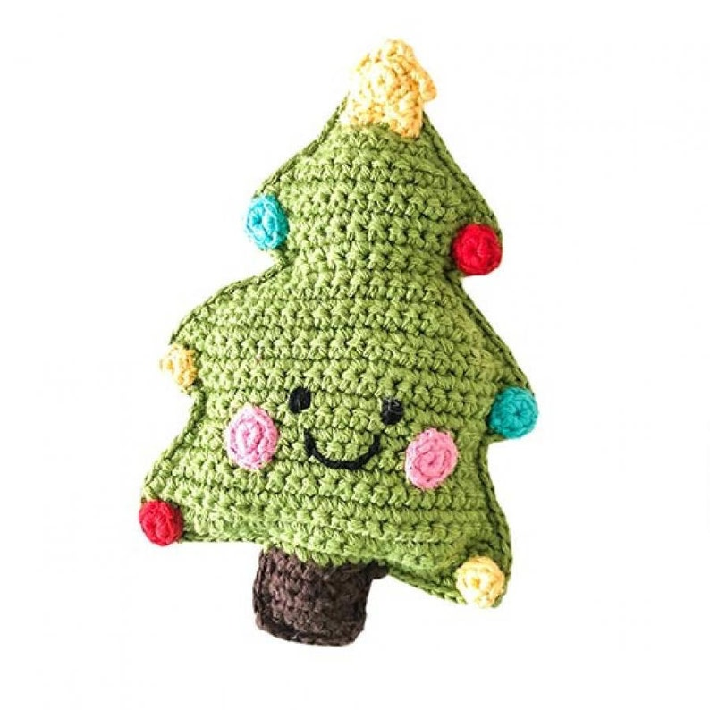 Christmas Tree  Handmade Soft Knit Toy  Pebble Fair Trade  image 1