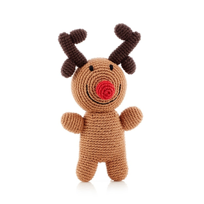 Rudolph  Handmade Kids Soft Toy  Pebble Fair Trade Gift  image 3