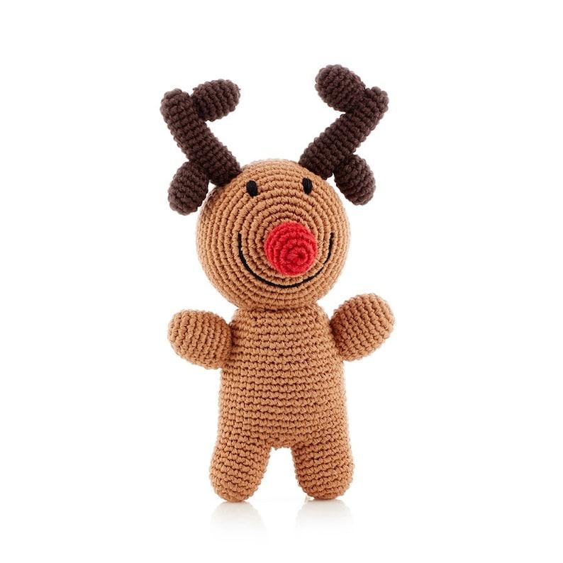 Rudolph  Handmade Kids Soft Toy  Pebble Fair Trade Gift  image 3