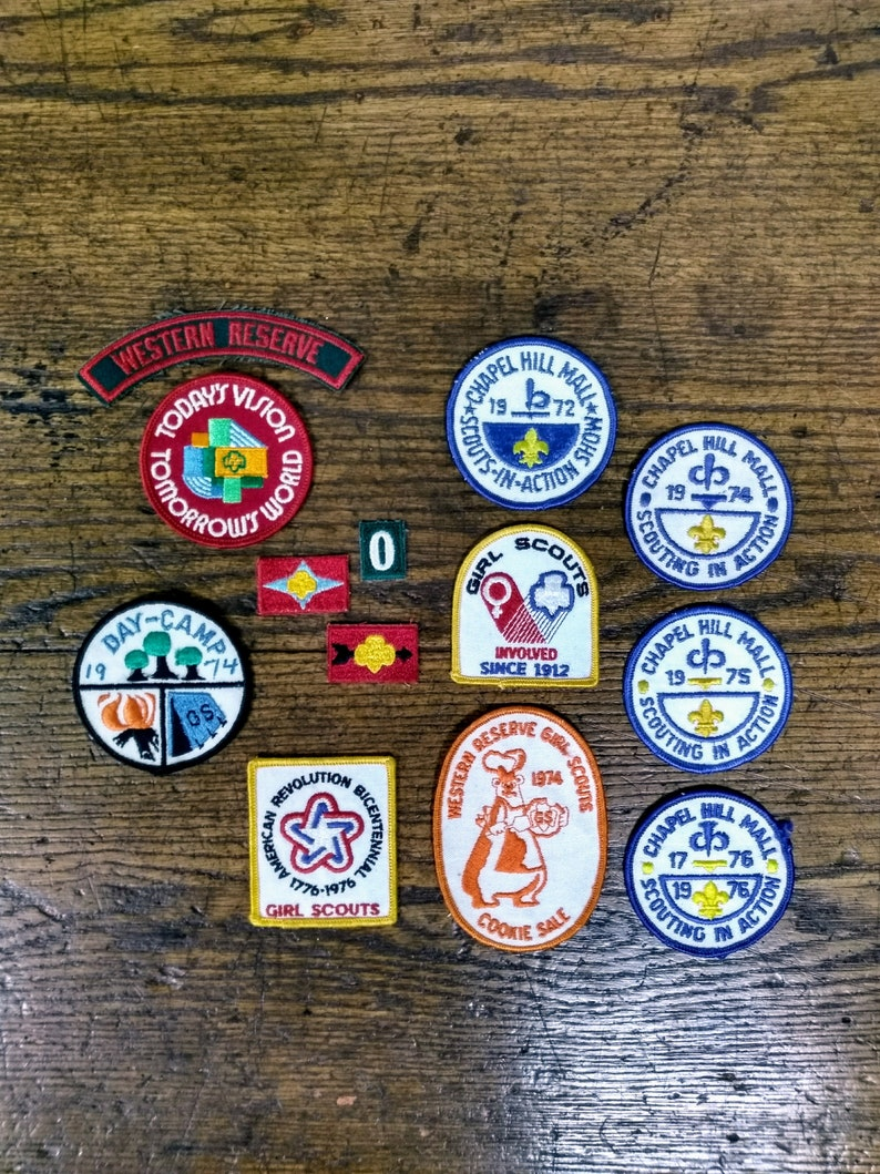 Vintage Patch | Sew On Patches | Girl Scout | Boy Scout | Badge | Scouts in  Action | Camp | Trefoil | Scouting Memorabilia | Mall Patches