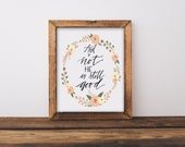 And if Not He is Still Good Written Calligraphy Print Digital Download Size 8 x 10