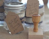 Wedding Favor Thank You with Wedding Names and Date Custom Calligraphy Hand Written Stamp