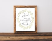 Pray Continually 1 Thessalonians 5:16-18  Written Calligraphy Print Digital Download Size 8 x 10