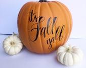 Thankful Pumpkin  / Fall Pumpkins / Give Thanks / Thankful Grateful Blessed / Calligraphy Pumpkin / Personalized Pumpkin / Thanksgiving