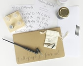 Calligraphy Starter Kit with Gift Box + On Sale + Free Name Personalization / READY to SHIP / Christmas
