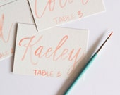 Watercolor Wedding Name Place, Table, or Escort Cards, Hand painted Calligraphy, Hand Lettering, Watercolor Name Cards