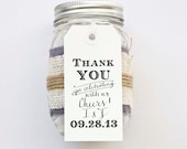 Custom Thank You for Celebrating with Us Cheers Wedding Favor Stamp with Custom Calligraphy Handwriting