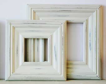 20x24 Picture Frame / Whistler Style / Vintage White or Blue