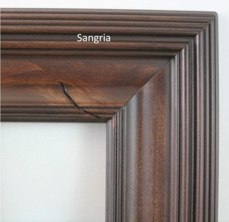 Knotty Alder 24x30 Picture Frame  Whistler style in three stained finishes