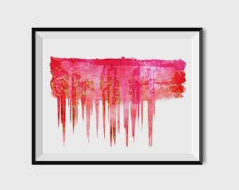 Printable Art, Instant Download, Abstract Drippy Glitter Painting, Printable Wall Art, Modern Art, Wall Prints, Digital Download